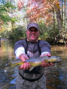 Fall Brown Trout caught near Asheville1 225x300 Fall 2011
