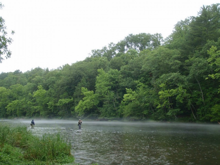 Be prepared for fly fishing in the rain in Western North Carolina 760px Tennessee Tailwaters May 22, 2012