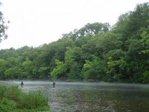 Fishing in the rain in WNC