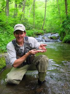Jeff with Southern Appalachian Brook Trout