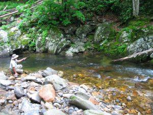 John on a Backcountry Stream
